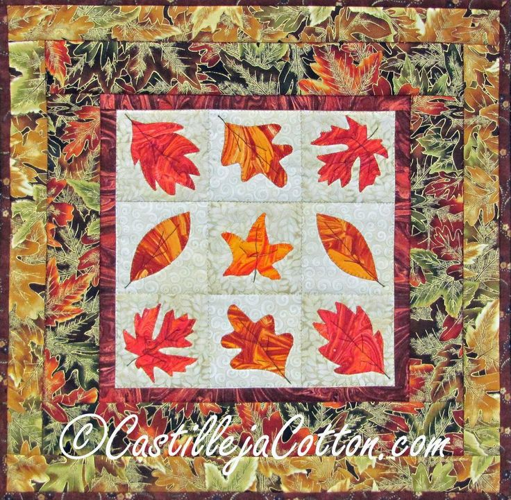 Quilt Patterns With Leaves : Collection of fall leaves Autumn leaf quilts Pinterest