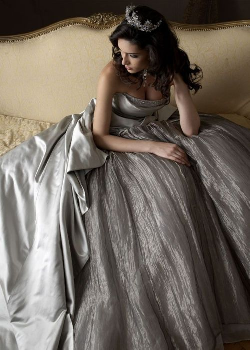 silver wedding dress LOVE THIS!! <3