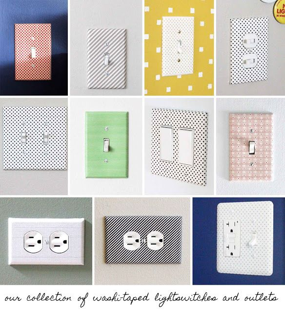 Washi Tape Decoracion Paredes ~ crab+fish collection of washi taped lightswitches and outlets