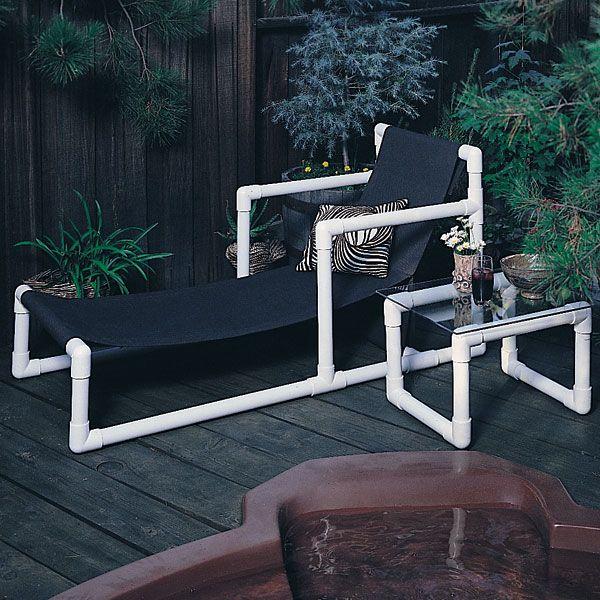 Pvc Furniture Free Plans Outdoors Pinterest