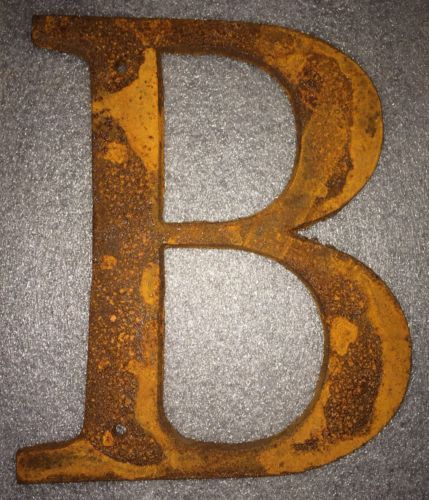 Metal Letter B Wall Decor : Rustic industrial metal sign letter b wall hanging home