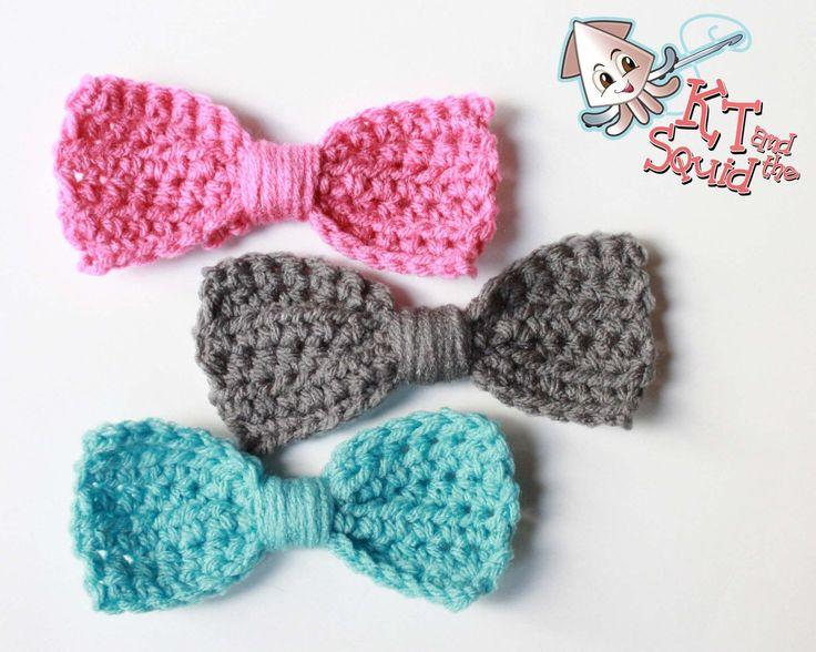 Free Crochet Bow Pattern Crochet Pinterest