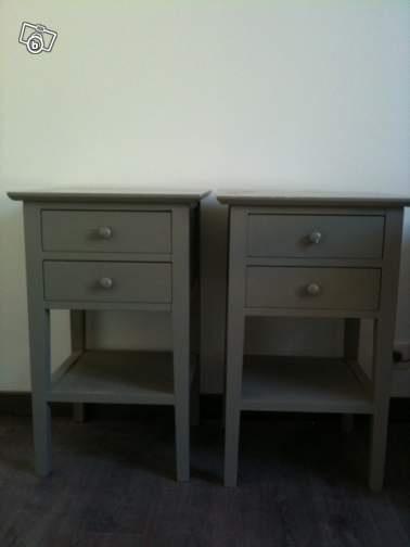 tables de chevet grise ampm 130e leboncoin. Black Bedroom Furniture Sets. Home Design Ideas