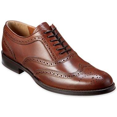 Stafford Ashton Mens Wingtip Dress Shoes