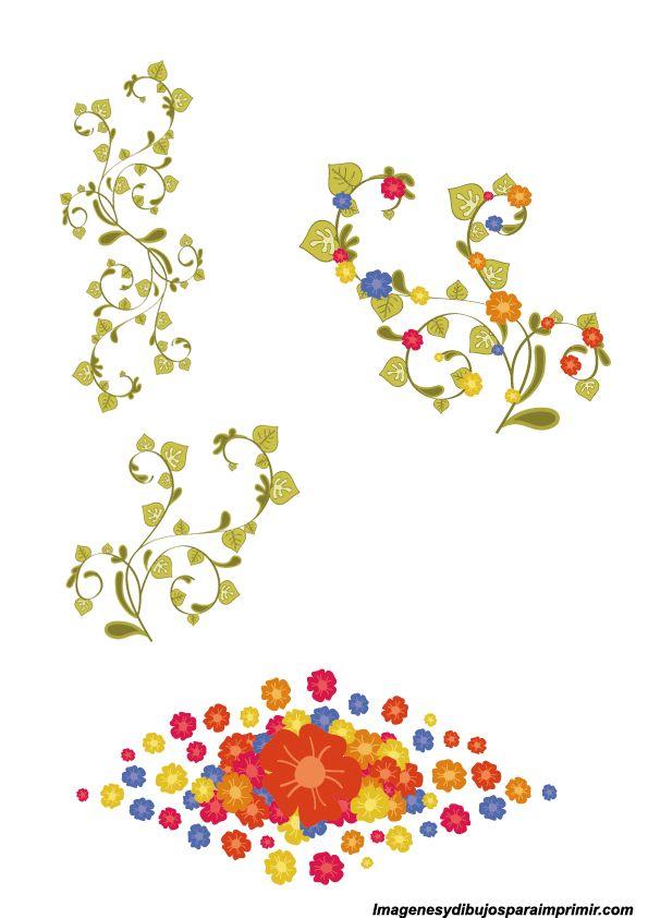 Bordes de flores para decorar dibujos pinterest for Dibujos para decorar