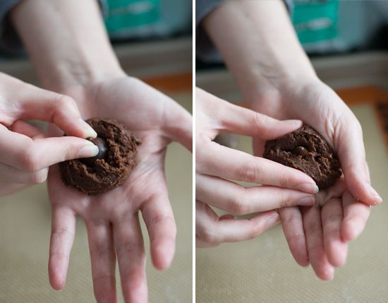 Sparkling Cocoa Mint Truffle Kiss Cookies Recipes — Dishmaps