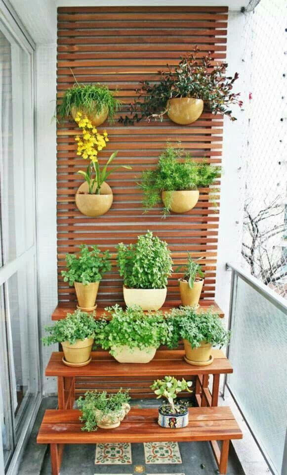 horta jardim na varanda:Decoracao Para Varanda