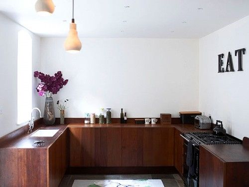 Kitchen without upper cabinets home pinterest for Kitchen ideas no upper cabinets
