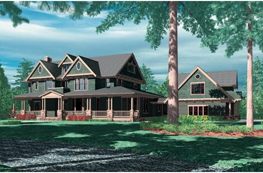Front Elevation Homes With Attached Guest Suites Pinterest