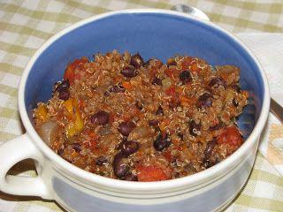 Black Bean and Quinoa Chili - Super Veggie Mom | Super Veggie Mom