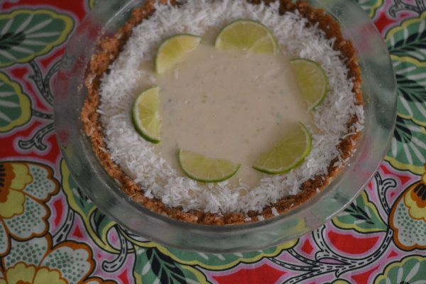 White Chocolate Key Lime Pie - thestickyandsweet.com
