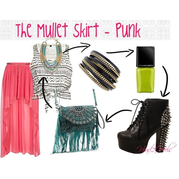 """The Mullet skirt - punk"" by head2heels on Polyvore"