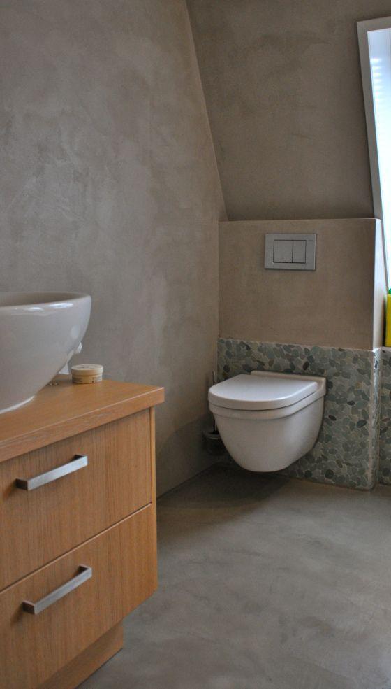 Beton Ciré Badkamer  INTERIEUR Badkamers  Bathrooms  Pinterest
