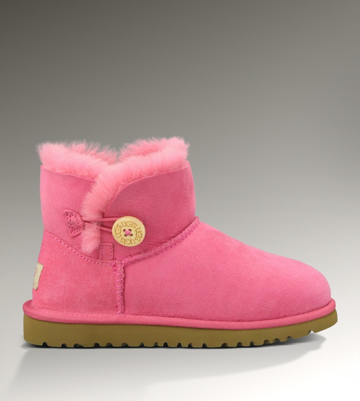ugg bailey button pink ribbon