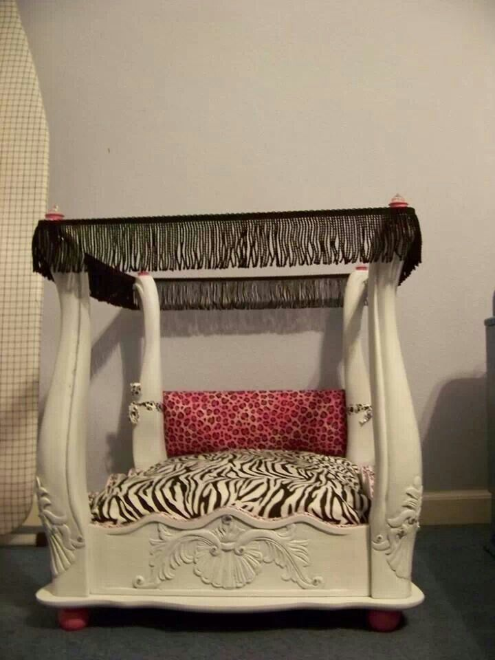Turn an end table into a dog bed being crafty pinterest for Dog bed table
