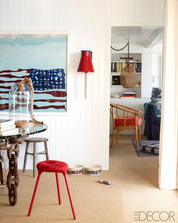 Elle Decor red white and blue