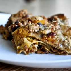 Turkey & Pumpkin Lasagna, filled with dried cranberries and apricots ...