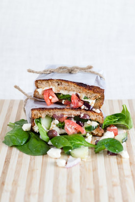 Mediterranean Grilled Cheese. #grilled #veggie #sandwich