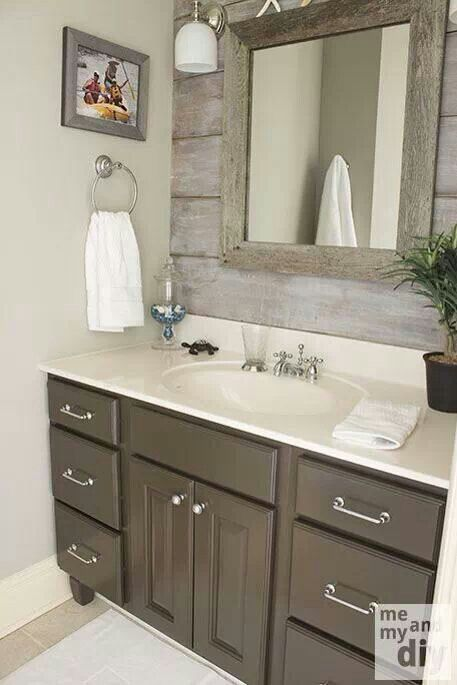 Barn wood bathroom