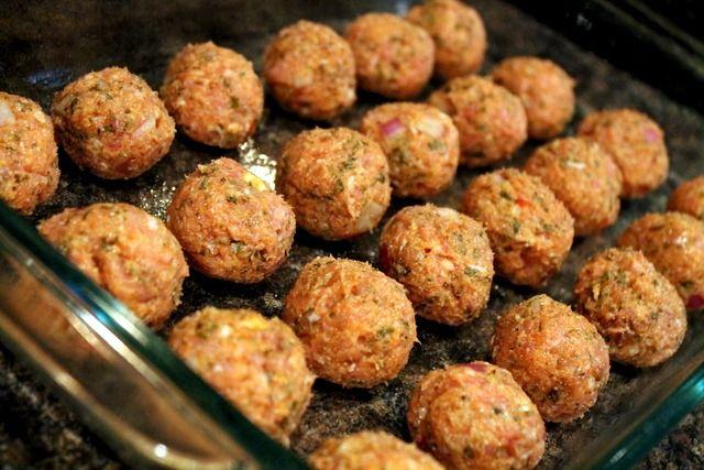 chicken parm meatballs | RECIPES | Pinterest