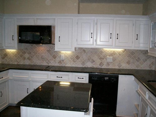 tumbled marble kitchen backsplash for the home sweet