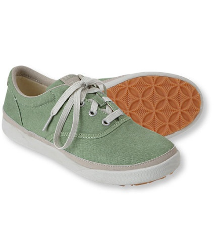 love the color. --LL Bean Womens Canvas Deck Shoes in Moss Green