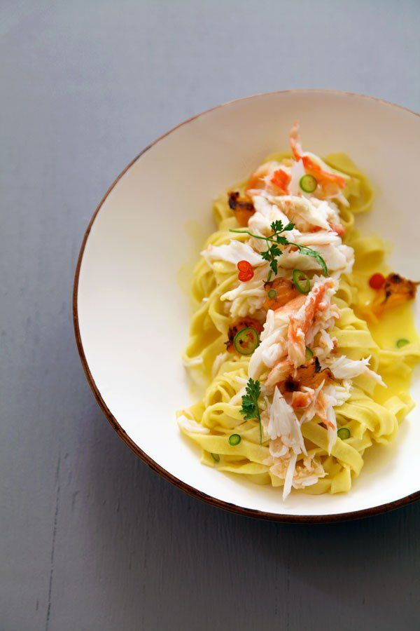 Crab, Grilled Tangerines, Chili, and Lemon: Ingredients ― king crab ...