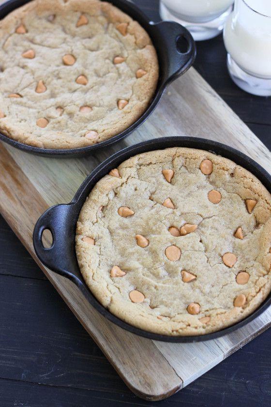 Peanut Butter Butterscotch Skillet Cookies from @Cassie G Laemmli ...