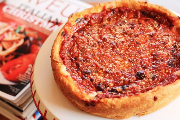 Chicago-Style Deep-Dish Pizza | Mmmm.... Main Dishes! | Pinterest