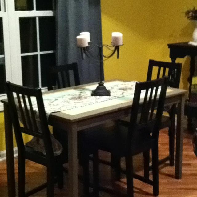 Painted Kitchen Table DIY Pinterest