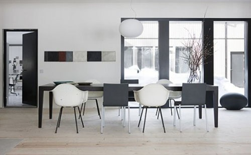 Black And White Modern Dining Room Dining Rooms Pinterest