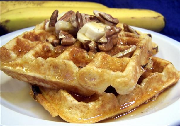 between crisp waffles and warm banana bread. I like my waffles crispy ...