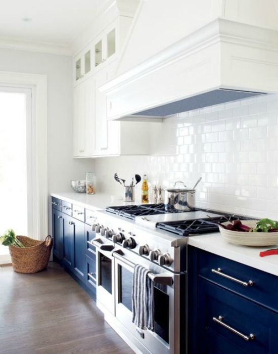 donkerblauwe keukenkastjes  Kitchens  Pinterest