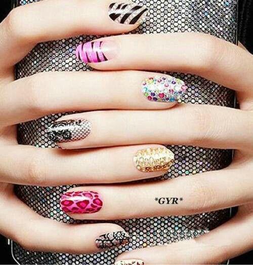 Various unique ... Unique Nail Designs Pinterest