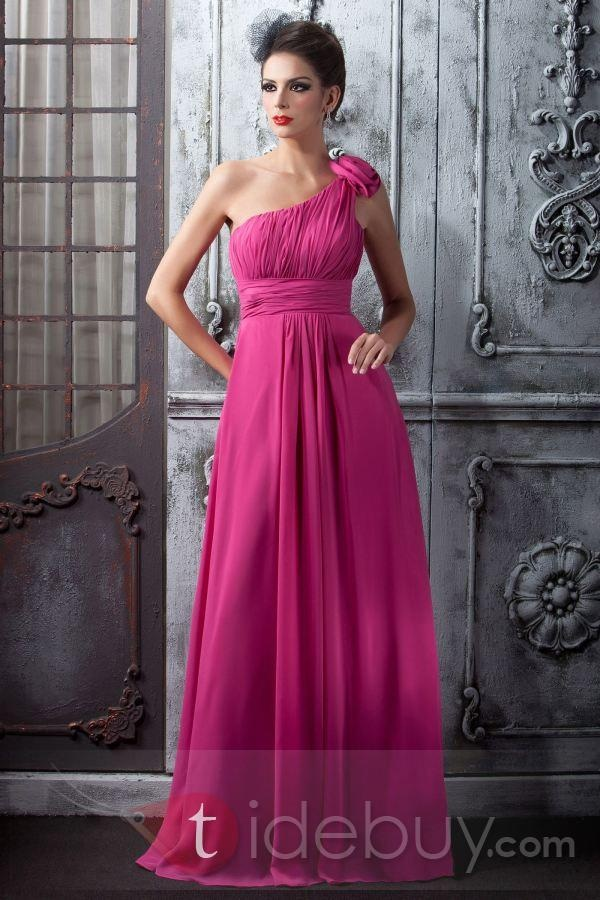 Hot pink bridesmaid dress wedding ideas pinterest for Fuchsia dress for wedding
