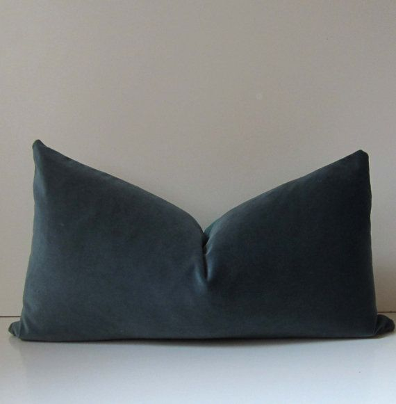 12 Inch Throw Pillow Covers : Teal velvet pillow - Decorative Pillow Cover - 12 x 20 inch - teal si?