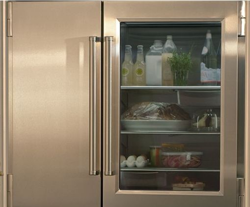 vignette design: Tuesday Inspiration: Glass Front Refrigerators
