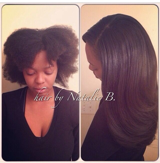 Natural hair is NO problem for me! FLAWLESS SEWIN HAIR WEAVES by
