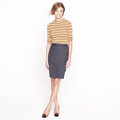 pencil skirt in pinstripe 120s