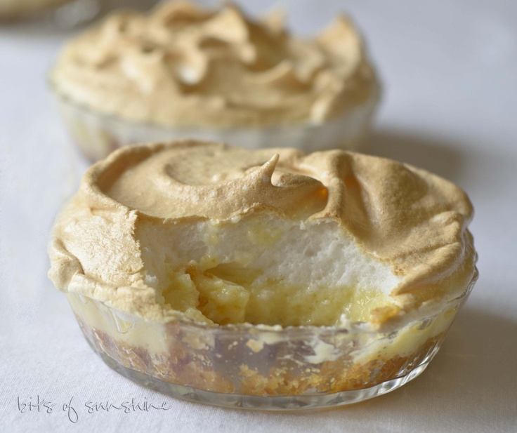 Mini lemon meringue pies | Recipe | Pinterest