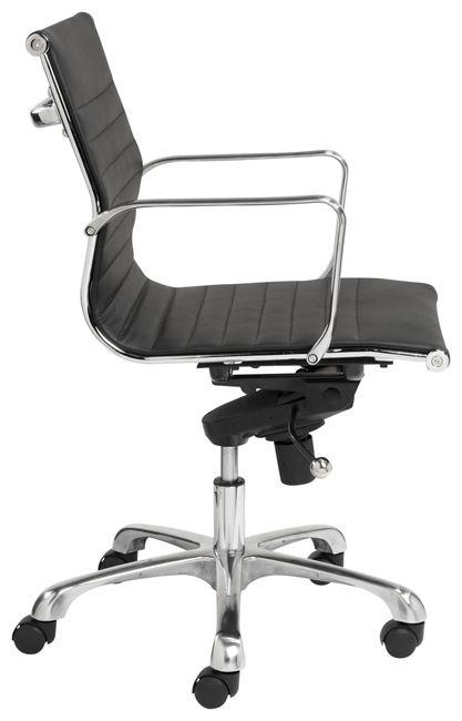 Bureaustoel milano zwart leer furniture pinterest for Bureau stoel