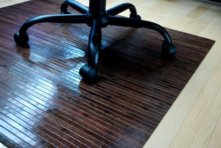 Bamboo Chair Mat Rug Hardwood Floor Protector Office Wood