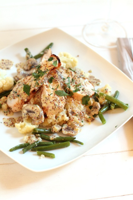 Grilled Chicken w/whole grain mustard pan sauce. (This sounds amazing ...