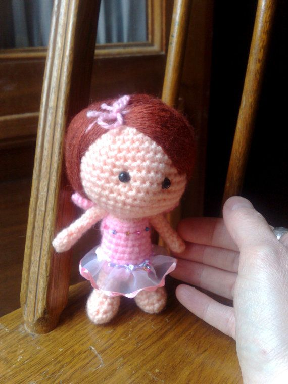Amigurumi doll - Red hair doll - Fairy - Crochet doll - Crocheted dol ...