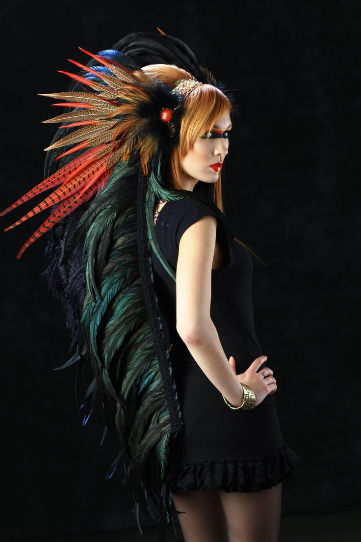 Feather Headdress - The Flame Feather Headdress