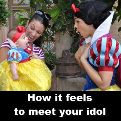 she is way too cute!!! How it feels , when you meet your Idol funny humour