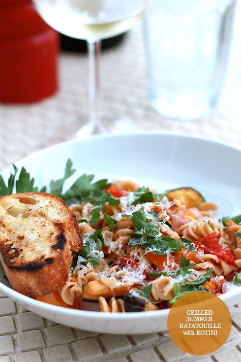 Grilled Summer Ratatouille with Rotini http://madebygirl.blogspot.com ...