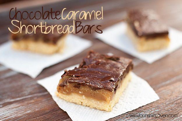 chocolate caramel shortbread bars - like the caramel butter bars, but ...