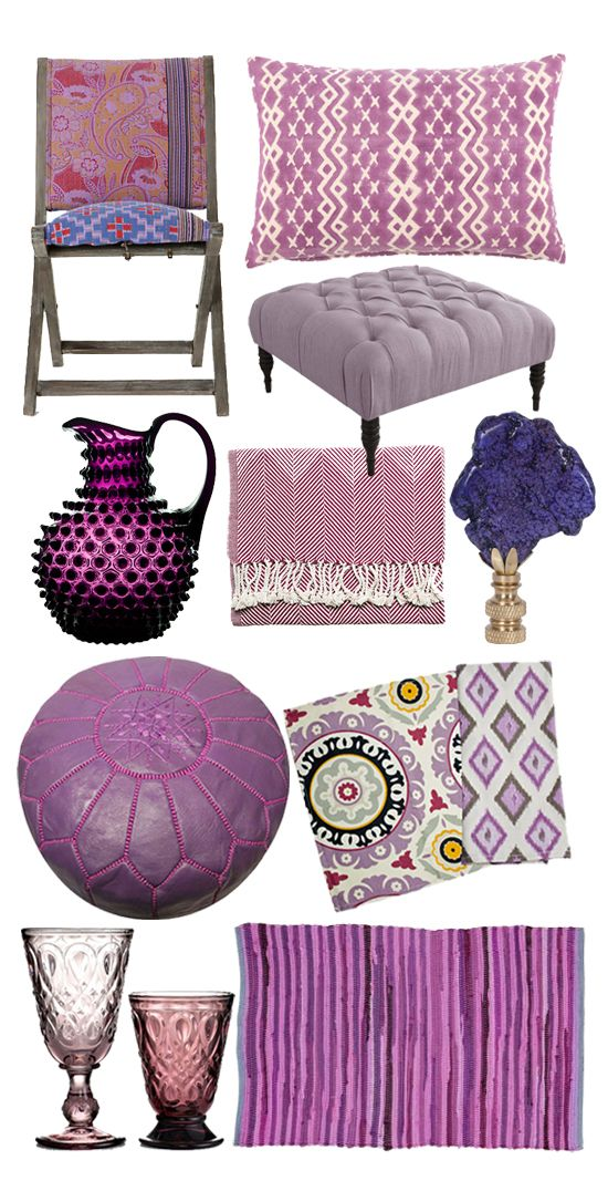 10 reasons to get passionate about purple decor...including our Plum Herringbone Throw... @POPSUGAR Home
