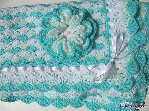 Crochet 3d Flower Baby Blanket Free Pattern : 3D Flower 3 Layer Turorial Crochet Pattern pattern by ...